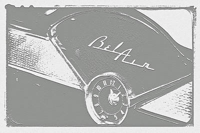 Photograph - '57 Chevy Bel Air Dash Abstract by Bill Owen