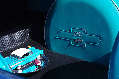 Photograph - 57 Chevy Bel Air Trunk by Robyn Stacey