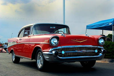 57 Chevy Bel-aire Art Print by Don Durante Jr