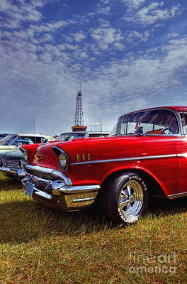 Art Print featuring the photograph 57 Chevy Belair by Trey Foerster