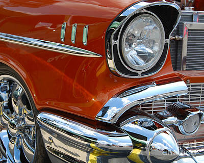 '57 Chevy Closeup Art Print