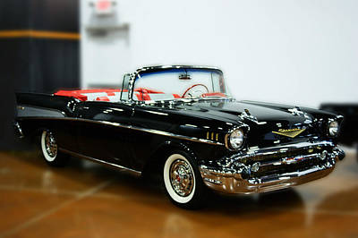 Art Print featuring the photograph 57 Chevy Convertible  by B Wayne Mullins