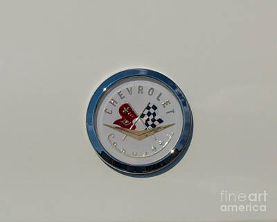 Photograph - 57 Chevy Corvette Emblem by Mark Dodd