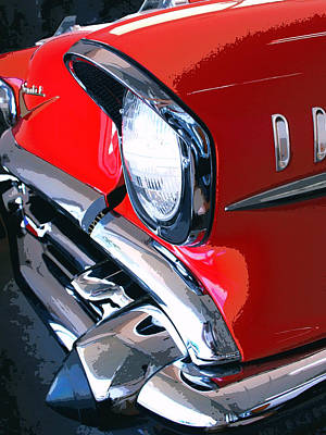 Featured Images Photograph - 57 Chevy Front End Palm Springs by William Dey