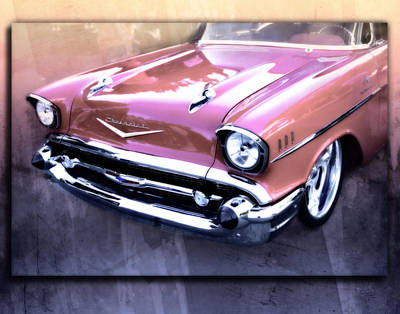 Jacques Digital Art - 57 Chevy Shine by Jacque The Muse Photography