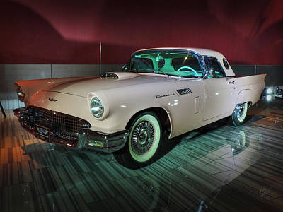 Photograph - '57 Ford Thunderbird 001 by Lance Vaughn