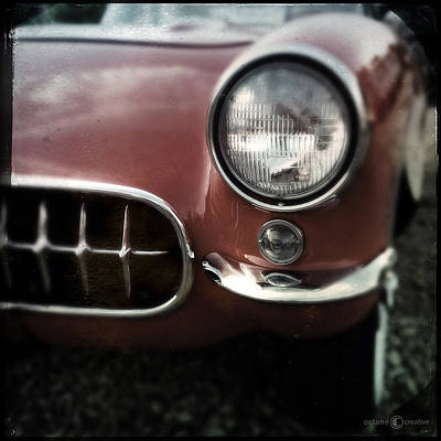 Photograph - 57 Red Corvette by Tim Nyberg