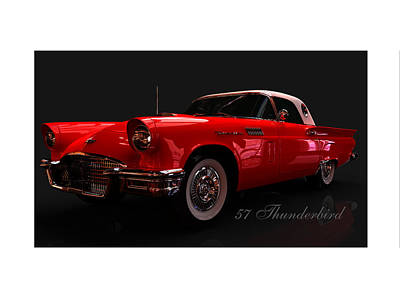 Digital Art - 57 Thunderbird by William Ladson