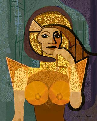 Inuu Digital Art - 570 - Lady Warrior by Irmgard Schoendorf Welch