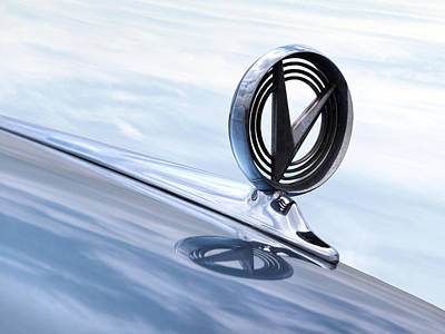 Fifties Buick Photograph - 58 Buick Roadmaster 75 Hood Ornament by Gill Billington