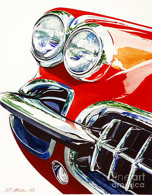 58 Corvette Art Print by Rick Mock