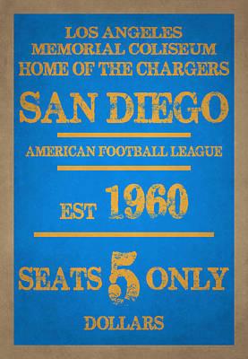 San Diego Chargers Art Print by Joe Hamilton