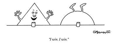 Drawing - I Win. I Win by Charles Barsotti