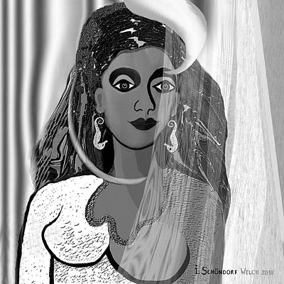 Digital Art - 582 - The  New Earrings  by Irmgard Schoendorf Welch