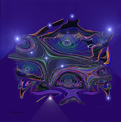 0rnamental Digital Art - 583 - The Night Lanterns by Irmgard Schoendorf Welch