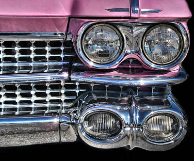 Art Print featuring the photograph 59 Caddy Lights by Victor Montgomery