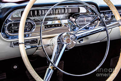 58 Cadillac Dashboard Art Print by Jerry Fornarotto