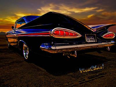 59 Chevy Impala Hardtop Art Print