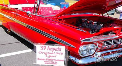 Photograph - '59 Chevy Impala by Mark Spearman