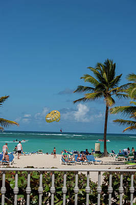 Parasailing Photograph - Dominican Republic, Punta Cana, Higuey by Lisa S. Engelbrecht