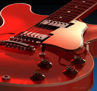 '59 Dot Neck Gibson Es-335 Art Print by Dan Terry