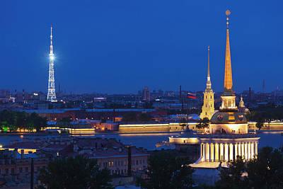 Saint Petersburg Photograph - Russia, Saint Petersburg, Center by Walter Bibikow