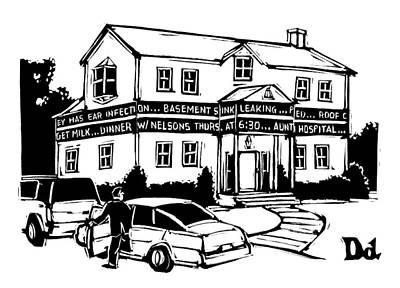 House Drawing - New Yorker June 30th, 2008 by Drew Dernavich