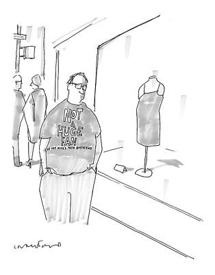 Men's Fashion Drawing - New Yorker March 13th, 2006 by Michael Crawford