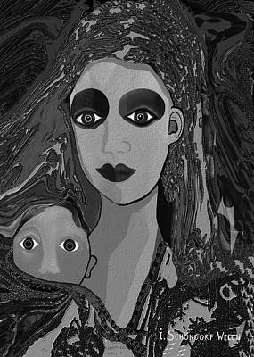 Digital Art - 594 - Silent Child  ... by Irmgard Schoendorf Welch