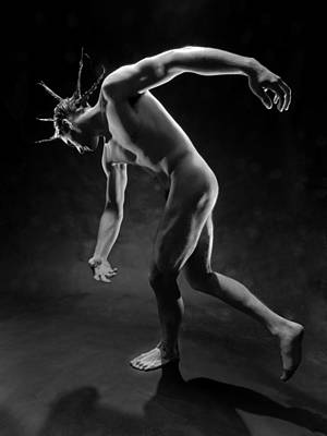 Photograph - 5941 Male Nude With Spiked Hair by Chris Maher