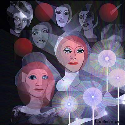 Lantern Digital Art - 596 -  Celebration by Irmgard Schoendorf Welch
