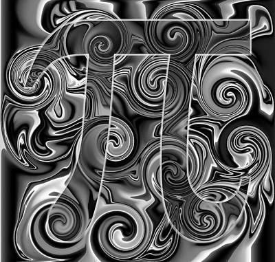 Pi Digital Art - 5Pi by Ron Hedges