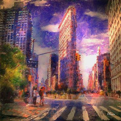 5th And Broadway Flat Iron Building Art Print