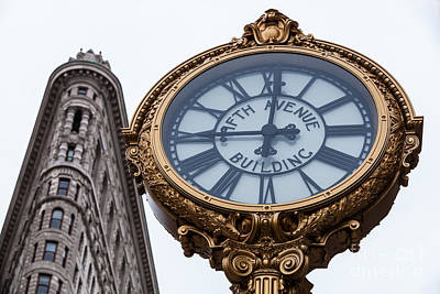 5th Avenue Clock Art Print by John Farnan