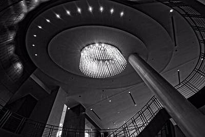 Country Music Hall Of Fame And Museum Photograph - 5th Avenue Lobby In Nashville by Dan Sproul