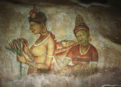 Adjectives Photograph - 5th Century Cave Frescoes by Chris Caldicott