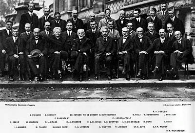 Photograph - 5th Solvay Conference Of 1927 by Science Source