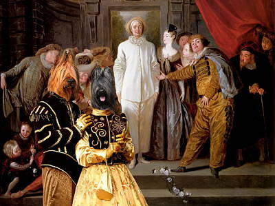 Briard - Berger De Brie Art Canvas Print Art Print