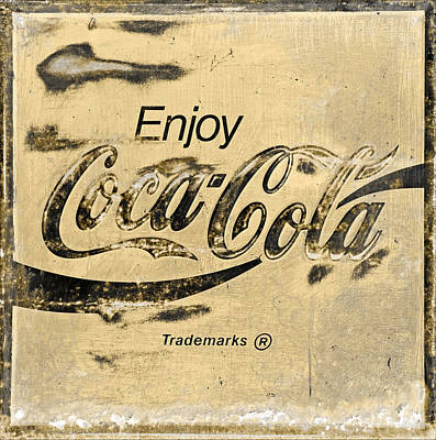 Coca-cola Signs Photograph -  Coca Cola Sign Grungy Retro Style by John Stephens