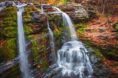 Dingmans Falls Photograph -  Waterfalls George W Childs National Park Painted  by Rich Franco