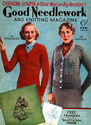 Drawing - 1930s Uk Good Needlework And Knitting by The Advertising Archives