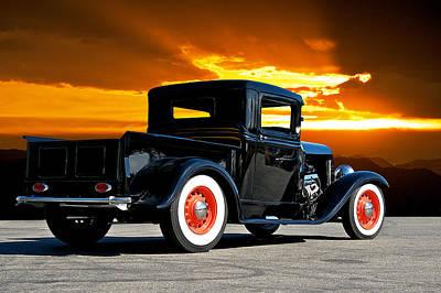 1932 Ford Pick Up Art Print by Dave Koontz