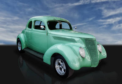 Street Rod Photograph - 1937 Ford Coupe by Frank J Benz