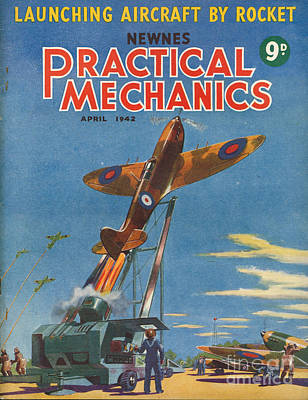 1940s Uk Practical Mechanics Magazine Art Print by The Advertising Archives