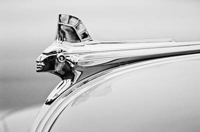Streamliner Photograph - 1951 Pontiac Streamliner Hood Ornament by Jill Reger