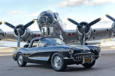B-17 Wall Art - Photograph - 1957 Chevrolet Corvette by Jill Reger