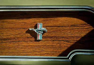 1969 Photograph - 1969 Ford Mustang Mach 1 Emblem by Jill Reger