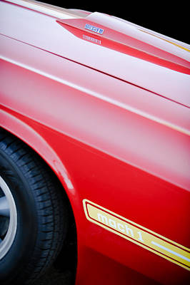 1969 Photograph - 1969 Ford Mustang Mach 1 Side Emblem by Jill Reger
