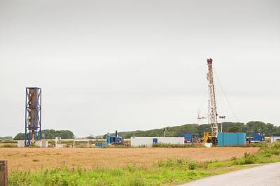 A Test Drilling Site For Shale Gas Art Print