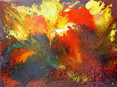 Art Print featuring the painting Abstract by Min Zou